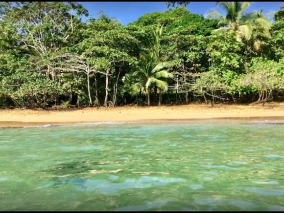 Fotografía de la playa cercana a la casa árbol de Panamá.
