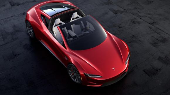 Fotografía del Tesla Roadster