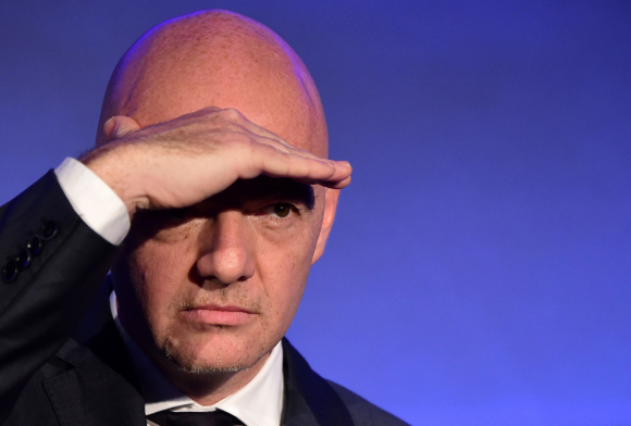 UEFA general secretary Gianni Infantino takes part
