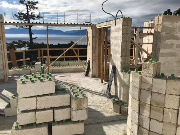 Una de las casas con morteros de cal y cañamo que está construyendo la empresa Harmless Home en EEUU / Harmless Home