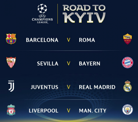 SORTEO CUARTOS DE FINAL CHAMPIONS LEAGUE: Juventus-Real Madrid ...