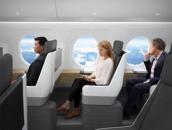 boom airliner llega el avi n del futuro viaja de londres a nueva york en solo tres horas y. Black Bedroom Furniture Sets. Home Design Ideas