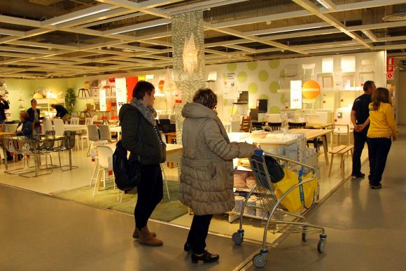 Imagen del interior de una tienda de Ikea.
