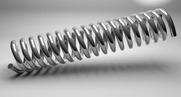 Fotografía del muelle de un bolígrafo.