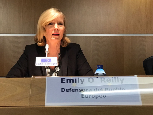 La Defensora del Pueblo Europeo Emily O'Reilly.