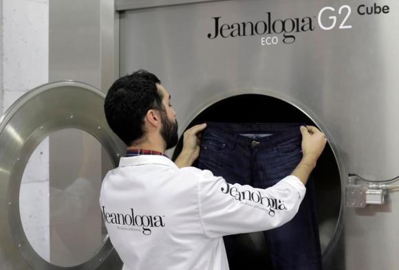 Jeanología usa la primera centrifugadora ecológica