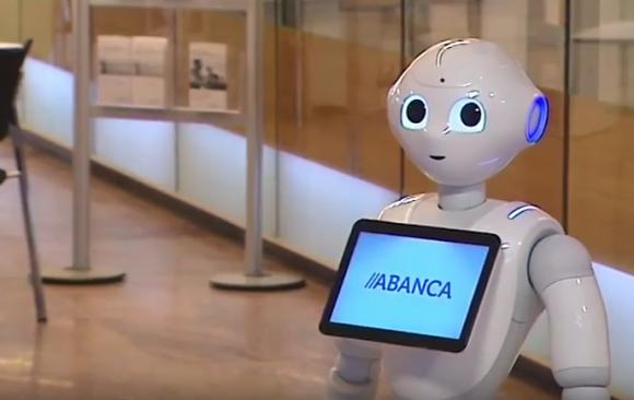 Abanca incorpora a su ''''''''personal'''''''' un robot que orienta a los clientes en sus transacciones