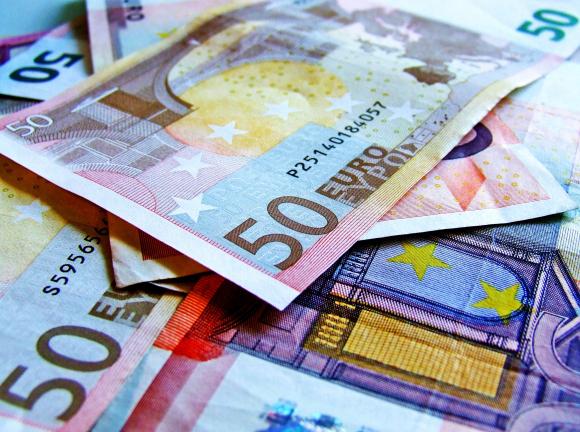 Fotografía billetes de euro.