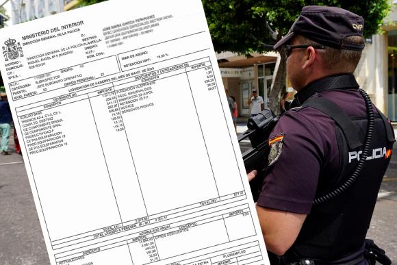 La nómina de un policía que demuestra que la equiparación salarial no es real