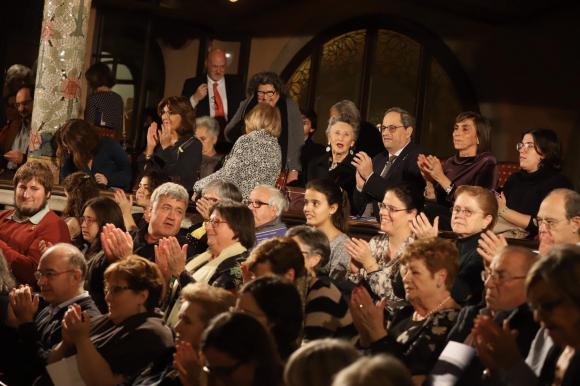 El presidente de la Generalitat, Quim Torra, en el concierto de Sant Esteve 2019. /EP