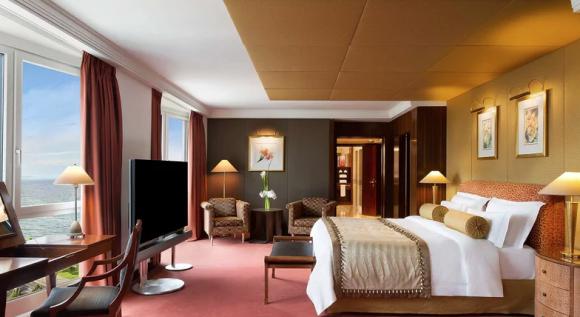 Fotografía de la 'Royal Penthouse suite' del Hotel Président Wilson en Ginebra (Suiza).