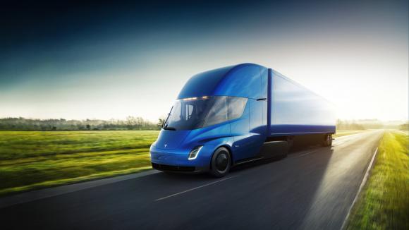 Fotografía del camión de Tesla