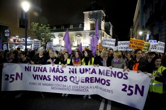 Manifestaciones contra la violencia de género