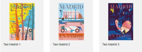 Fotografía de postales del taxi