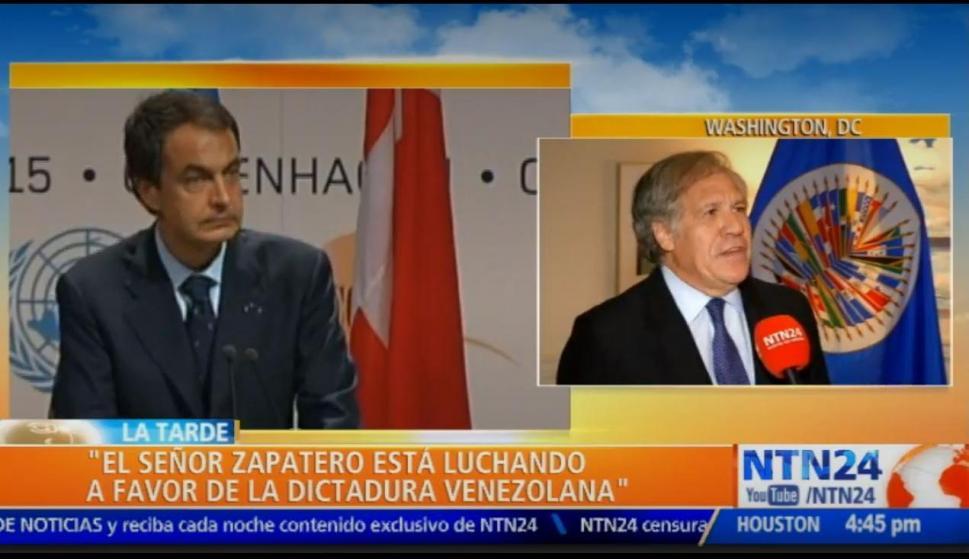 Captura de la entrevista a secretario general de la Organización de Estados Americanos, Luis Almagro (NTN24)