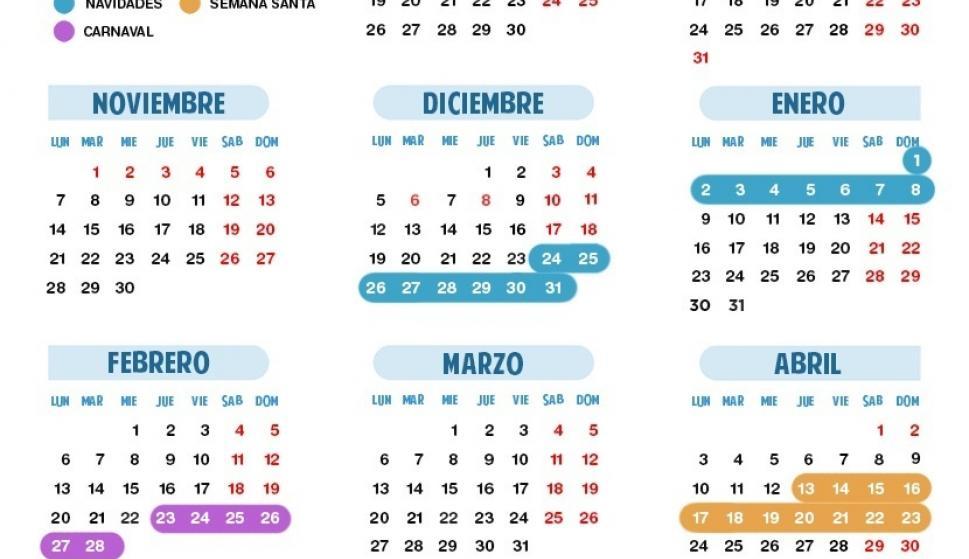 Calendario Escolar 18 19 Cantabria.Cantabria Tendra El Calendario Escolar Mas Novedoso Con Una