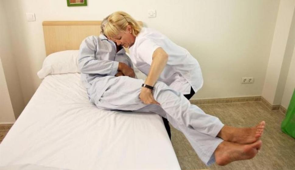 Una trabajadora de ayuda a domicilio en Madrid: \