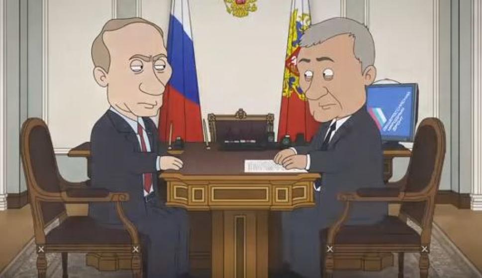 Vladimir Putin Asesina A Los Corruptos En Una Serie De Dibujos