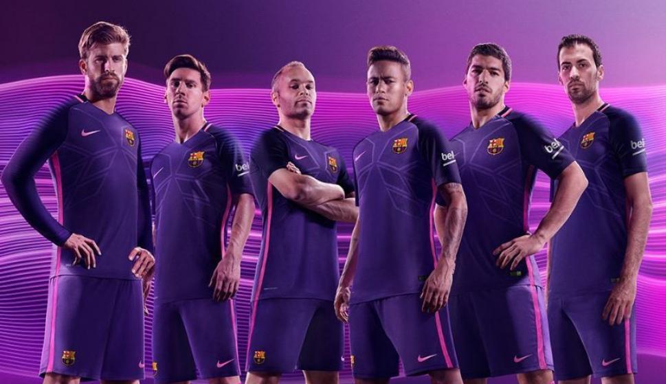 El Barça presenta la segunda equipación  para algunos 430cf2f3990