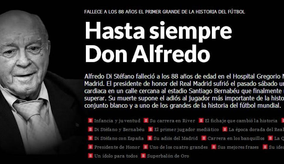 La Prensa Llora La Muerte De La Leyenda Blanca Alfredo Di