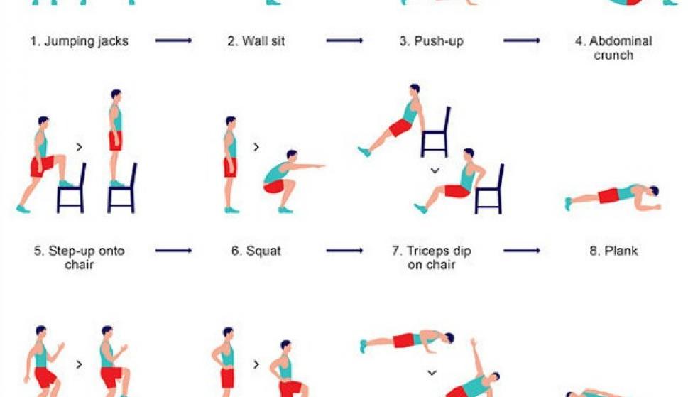 tabla de ejercicios para ponerse fuerte en casa