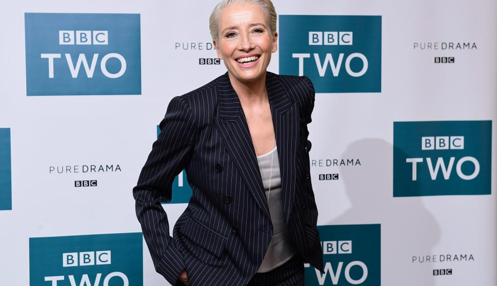 Emma Thompson asiste a la emisión del Rey Lear en el Soho Hotel de Londres, London. (Cordon Press)