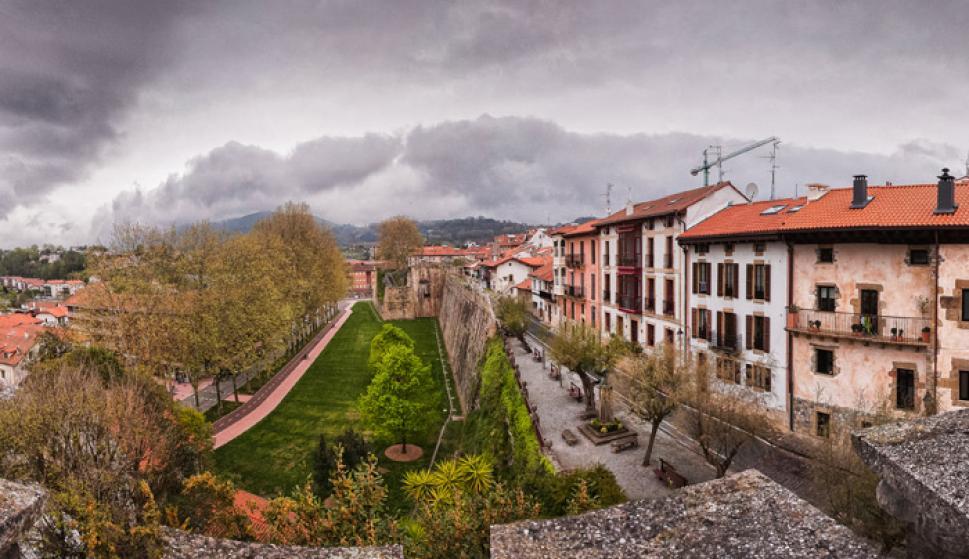 Vista desde las murallas de Hondarribia./Asociación Empresarios Hostelería Hondarribia