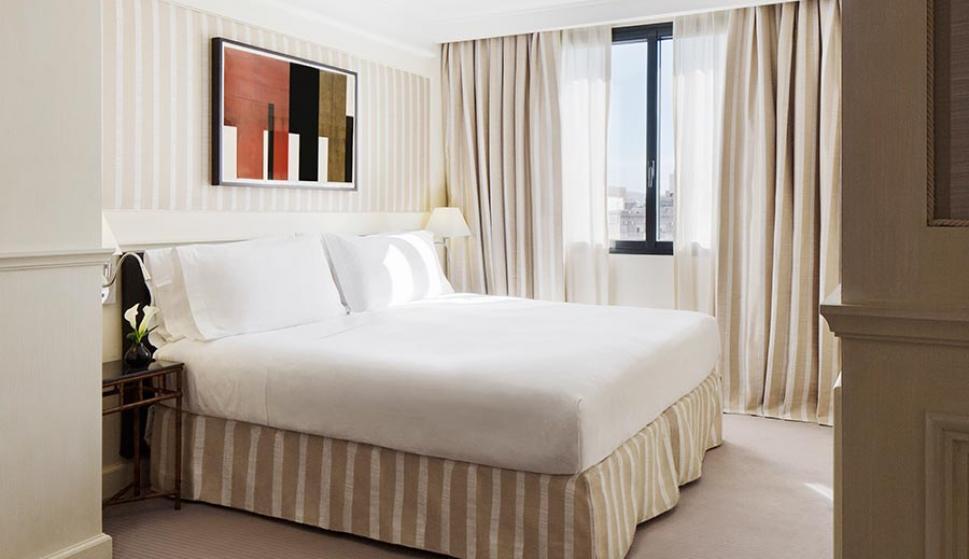 Habitación de lujo del hotel Majestic.
