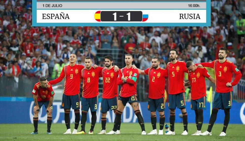 España cae en octavos ante Rusia