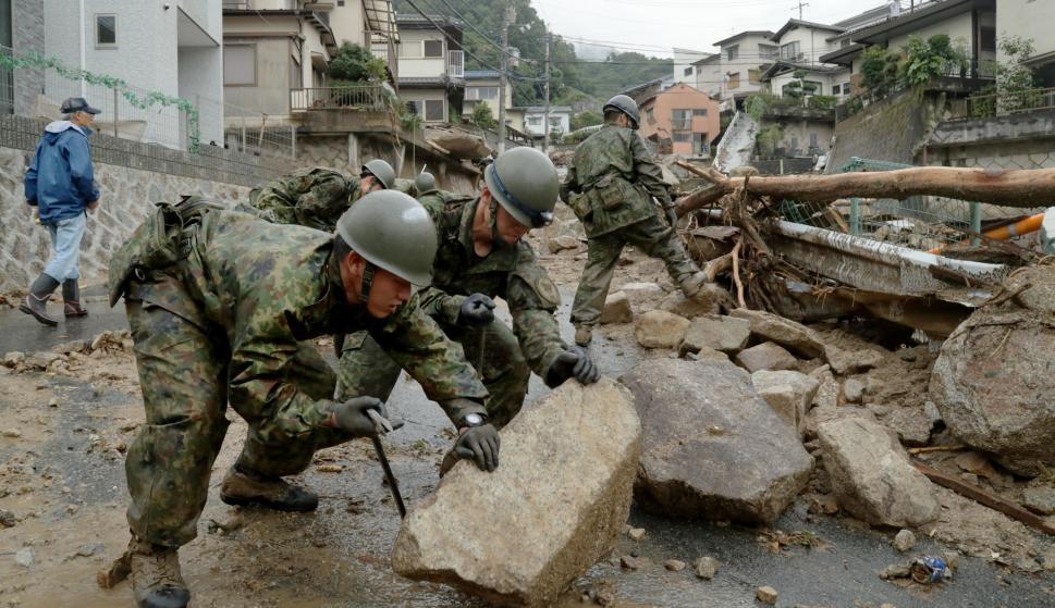 Las lluvias torrenciales ponen en alerta a Japón