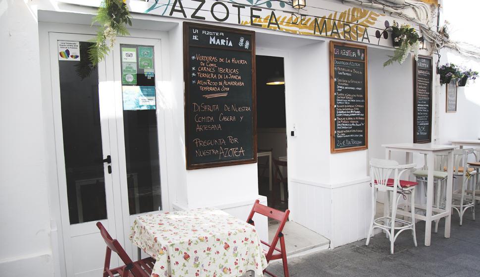 Imagen del restaurante la Azotea de María.