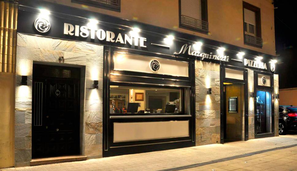 Fachada de la pizzería Marquinetti.