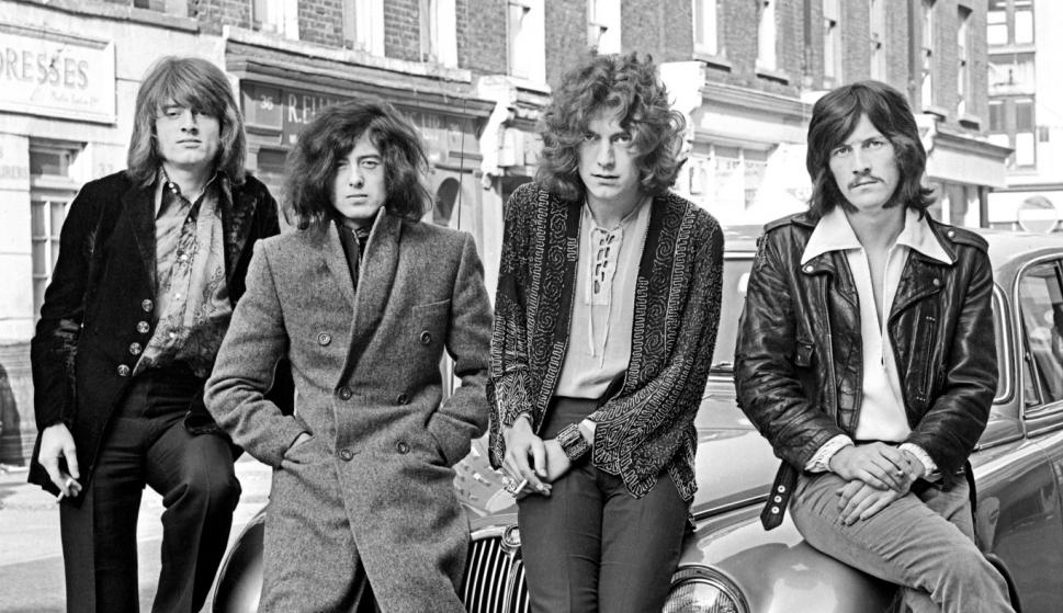 Led Zeppelin en una foto promocional de los 70 / Wikicommons