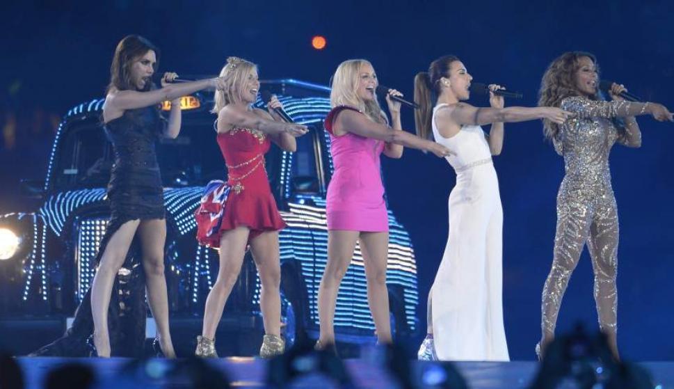 Las Spice Girls, en la ceremonia de clausura de los JJOO de Londres (EFE)
