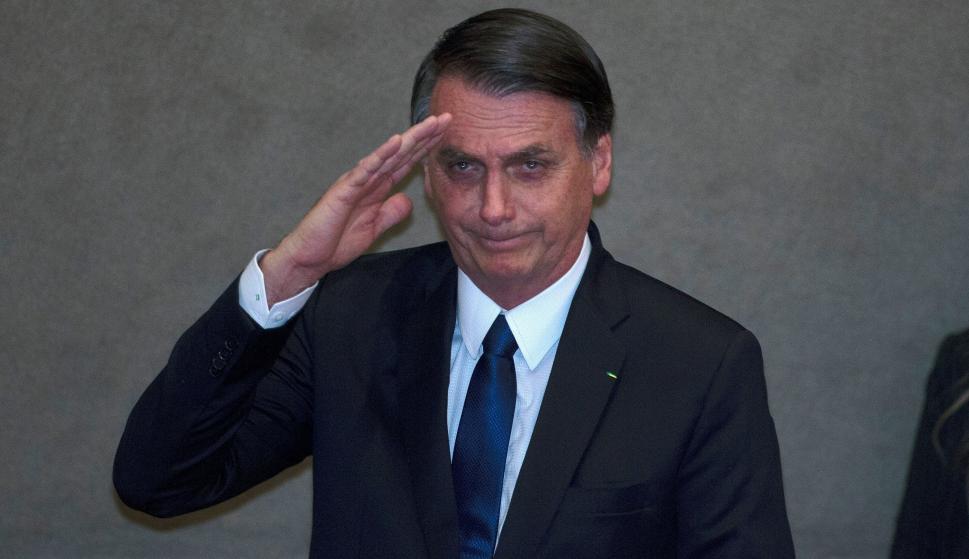 El presidente electo, Jair Bolsonaro, asiste a un acto celebrado en la sede del Tribunal Superior Electoral (EFE)