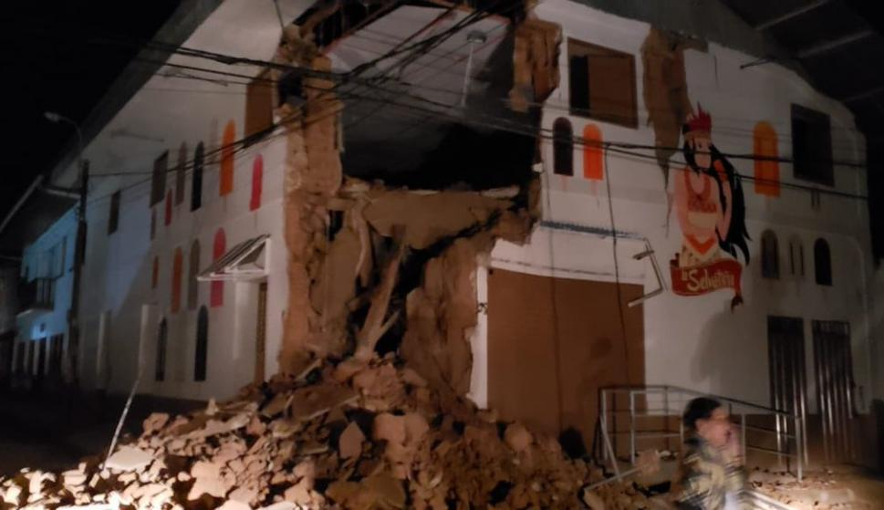Daños en edificios de Yurimaguas, Alto Amazonas, Loreto./Bomberos Perú