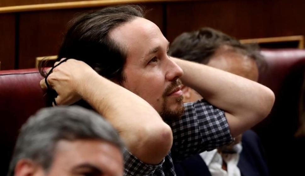 Pablo Iglesias, en la sesión de investidura
