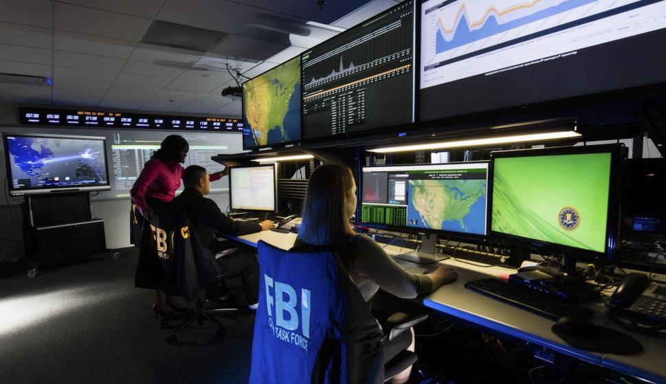 Personal de la Cyber División del FBI en una de sus sedes. /FBI.gov
