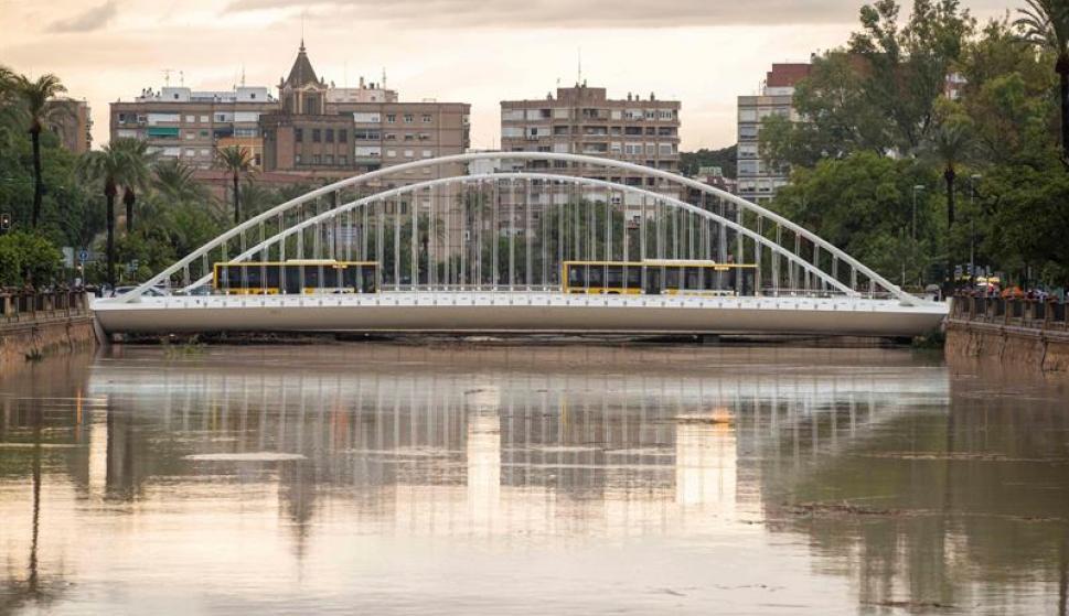 Río Segura se desborda