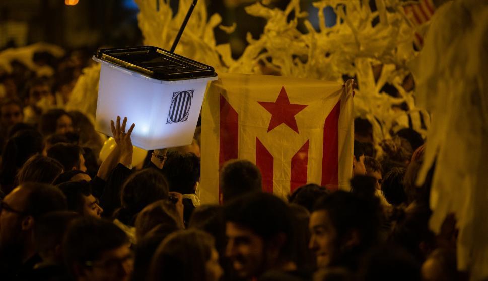 Tercer día de protestas en Cataluña