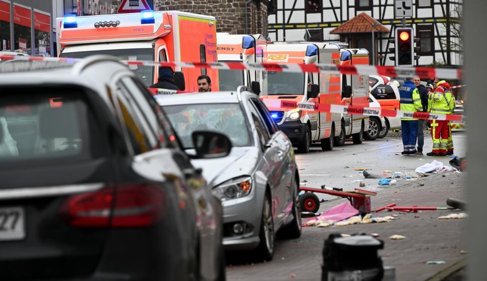 Escena del atropello masivo en Volkmarsen. /Europa Press