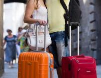 turistas de vacaciones