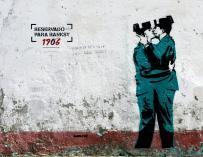 La posible obra de Banksy