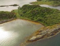 Fotografía de la isla de Eilean Nan Gabhar.