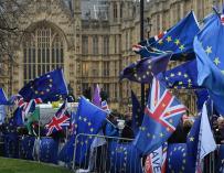 Manifestantes en contra del Brexit