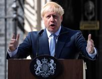 Boris Johnson, en su toma de posesión como primer ministro de Reino Unido
