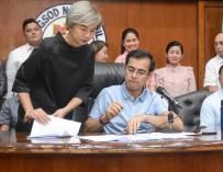 El alcalde la Manila, Isko Moreno Domagoso, con la vicealcaldesa