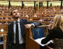 Fotografía de Pablo Casado en el Congreso de los diputados.