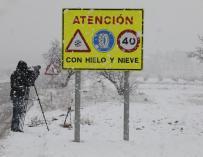 Paisaje nevado cerca de la localidad de Utiel