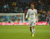 Modric sintió molestias en la cadera durante el Real Madrid-Las Palmas